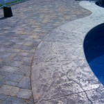 Poolside hardscape design