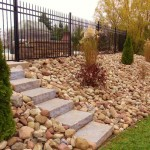 Stone Steps by Oak Shade Landscaping