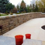 Retaining Wall and Stone Steps